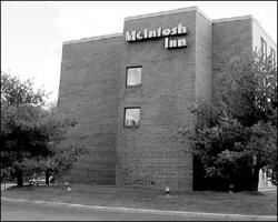 CHRIS KELLY The McIntosh Inn on Route 36 may soon be welcoming guests under another name. The zoning board recently approved changes to the hotel that will allow it to become part of a national chain.