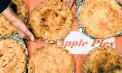 Tasty homemade apple pies tempt visitors attending the 50th Apple Festival sponsored by the Madison Township Historical Society, Old Bridge, on Nov. 8.  SCOTT FRIEDMAN