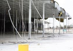 The former Sam's Club on Route 18 in East Brunswick is being demolished to make way for a new Walmart supercenter that is slated to open next year.  THOMAS CASTLES