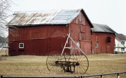 The red barn on the Dey Farm Historic Site will be restored and turned into an agricultural museum dedicated to Monroe Township's farming history.  STELLA MORRISON/STAFF