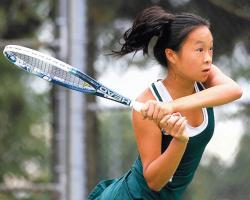Jennifer Chen of East Brunswick High School looks to defend her Greater Middlesex Conference Tournament singles championship and continue to be a key contributor to the Bears' girls tennis team.