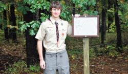 Quinton Schimmel of Jamesburg has renovated the trails behind the Monroe Township Recreation Center as part of his Eagle Scout project.