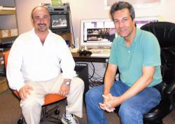 Ed Cologna (l) and Michael D'Amato are the men behind Edison TV.