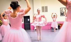 Victoria Silverman plays the Dew Drop duriing a dress rehearsal for the Nutcracker.