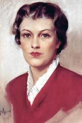 """1936 """"portrait"""" of Betty Crocker, as imagined by artist Neysa McMein"""