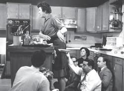 Julia Child on set in 1963