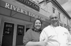 CHRIS KELLY Robert Guido and his wife, Christine, are relocating their business, the River's Edge Cafe, to Broad Street in Red Bank. The move will make more space available to accommodate the growing number of patrons.