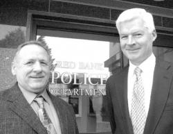 CHRIS KELLY Red Bank Police Capts. Ernie Van Pelt (l) and Mark Fitzgerald were expected to be sworn in July 31 as deputy chief of police and chief of police, respectively.