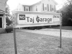 SANDI CARPELLO Red Bank resident Al LaRotonda made his feelings about the possibility of a parking garage in Red Bank known, via signs that he had made and displayed when the parking garage was first proposed, more than two years ago.