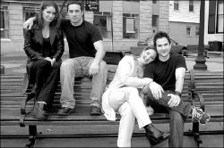 FARRAH MAFFAI  Members of the cast of Never Among Friends, to be filmed in the Freehold area this summer, include (l-r) Debra Yeskel, Kevin Interdonato, Natalie Durante and Pete Capella.
