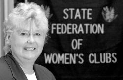 VERONICA YANKOWSKI Morganville resident Ann Quinn, current president of the N.J. State Federation of Women's Clubs, is committed to the club's ideals of literacy and education.