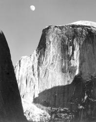"""Moon and Half Dome"" by Ansel Adams, 1960"