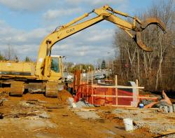 JEFF GRANIT staff Millhurst Road between Route 33 and Main Street in the Tennent section of Manalapan remains closed to traffic as construction continues on the demolition of an existing bridge and the construction of a new bridge.