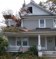 A house on Lincoln Place in Freehold Borough was damaged when Sandy delivered a devastating blow to New Jersey on Oct. 29. Photo taken Nov. 2.  MARK ROSMAN