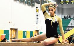 Freehold High School's all-state gymnast Jennifer King will take her talents to the University of New Hampshire starting next fall.  DORINE SHAPIRO