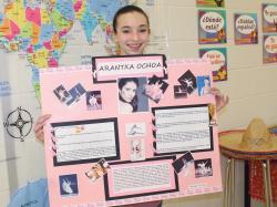 MEMS pupil Sydney Block is a dancer who created a project about Arantxa Ochoa, a celebrated ballerina in the Pennsylvania ballet.