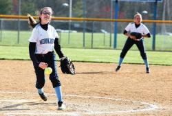 Middlesex County College's Amanda McCormick was named the national Division III Pitcher of the Week for April 2-8. The North Brunswick Township High School graduate won two games and allowed just one earned run in 12 innings of work.  PHOTO COURTESY OF MIDDLESEX COMMUNITY COLLEGE